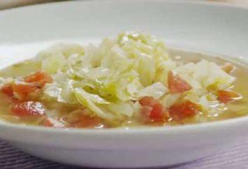 Soupe aux choux. Recettes délicieux plats