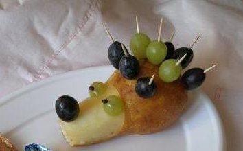 Köstliche Igel Birnen und Trauben
