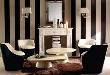 clássicos refinado e dinâmica moderna do interior – Papel de parede listrado