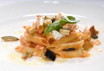 Pâtes aux aubergines et les tomates: en particulier la cuisine, recettes