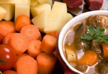 Warzywa z mięsa w naczyniu w piecu – serdeczny i łatwe posiłek