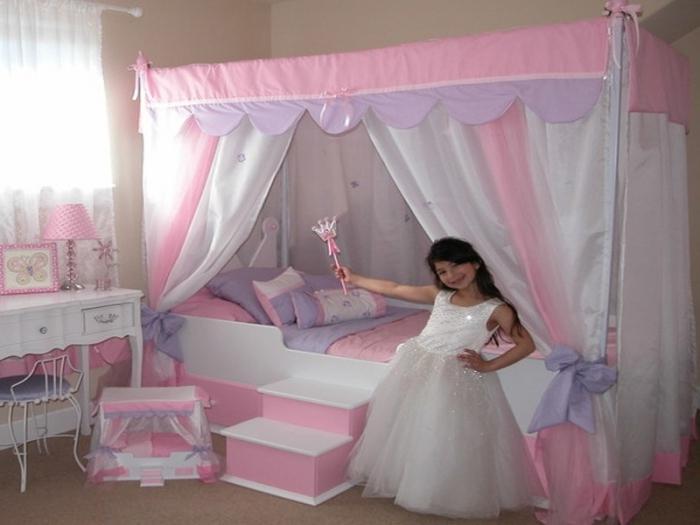 Nowoczesne łóżko Dla Dziewczynek