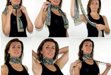 Come legare una sciarpa intorno al collo, per essere bella?