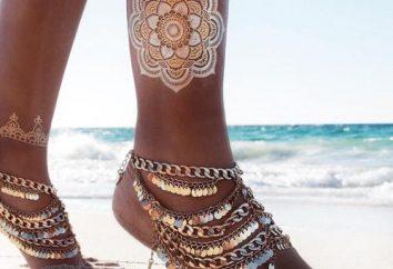 A pulseira de ouro em sua perna, a fim de manter o ritmo com os tempos