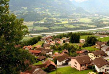 Liechtenstein Schloss Vaduz und andere Attraktionen des Landes