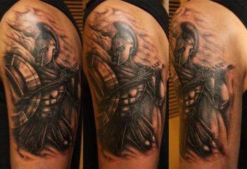 Spartan – un tatouage qui montre le courage, la force et le courage