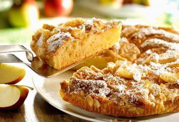 Lush e deliziosa torta di mele con le mele: ricetta