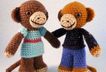 Jak na drutach szydełku małpa? Jazdy dla początkujących, opis