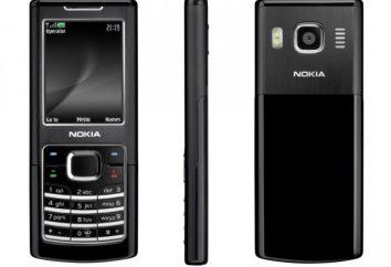 Telefon komórkowy Nokia 6500 Classic: przegląd, funkcje i opinie właścicieli