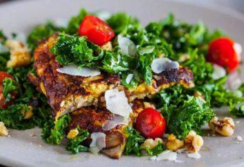 Omlet z sałatką: przepisy kulinarne ze zdjęciami i kaloriami