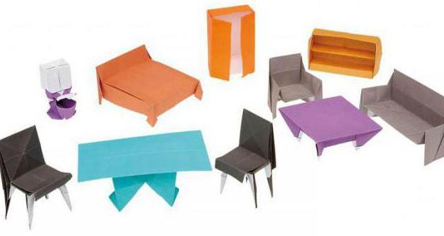 Origami Möbel wie macht papierprodukte die eigenen hände
