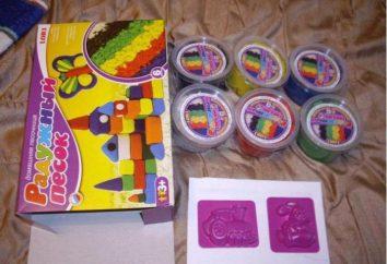 """Zestaw do kreatywności """"Rainbow piasku"""": opis, instrukcje, opinie"""