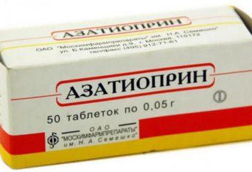 """""""azatiopryna"""": instrukcja obsługi, opinie, opisy, analogi"""