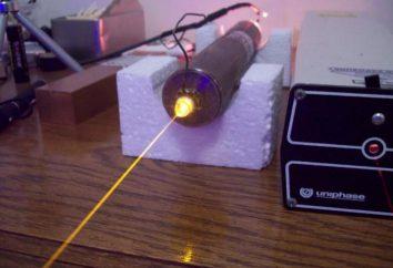 láser de gas: descripción, características, principio de funcionamiento