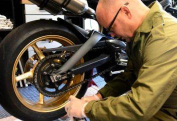 O melhor lubrificante para correntes da motocicleta: revisão, tipos, fabricantes e comentários