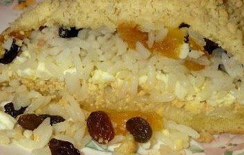 Tatar Gubad: corte receita e frutas secas