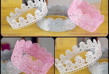 couronne de dentelle ajourée de ses propres mains: faire la décoration pour les adultes et les enfants