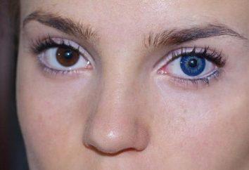 Quais são as lentes azuis para olhos castanhos?