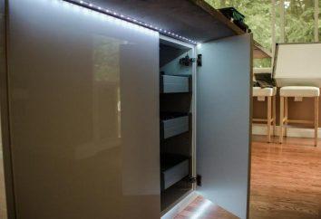 LED-Streifen in der Küche. Hintergrundbeleuchtung LED-Streifen in der Küche