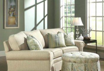 Sofas mit Ottomane im Innenraum. Winkelsofa mit Ottomane: Abmessungen, Foto