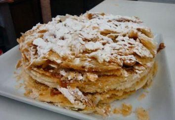 """Cosa cuocere una torta di pasta sfoglia? Snack dolci, torta """"Napoleon"""" dal traballante pasta lievitata"""