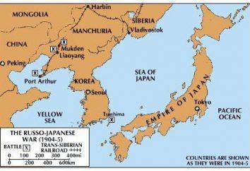 Bitwa pod Cuszimą 1905 Naval bitwie na Morzu Japonii. Cieśnina Cuszimska