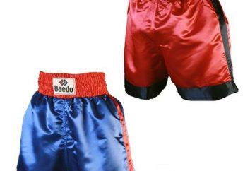 Sutilezas de artículos deportivos: pantalones cortos de nota para el boxeo!