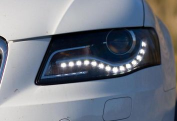 LEDs para DRL. DRL com as mãos dos LEDs