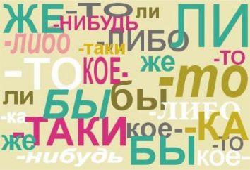 Welche Partikel werden durch einen Bindestrich in Russisch geschrieben