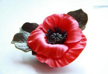 Uma flor de porcelana fria. Moldando flores de porcelana fria com as próprias mãos