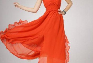 Wie ein Kleid nähen von Chiffon: Muster und kleine Tricks