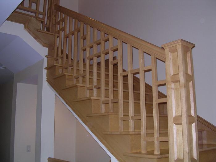 C mo hacer un pasamanos para las escaleras con sus propias - Como se hacen escaleras de madera ...