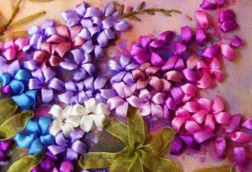 Bordar fitas lilás. O ramo de lilás: Master Class