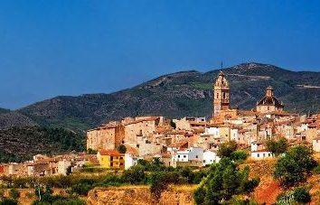 Spanien, Valencia. Land Orangen und Blumen