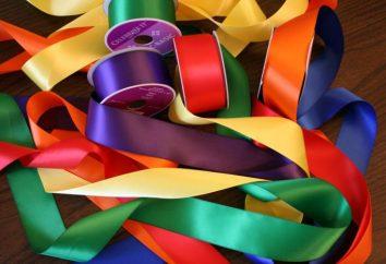 Was kann von Bändern gemacht werden? Wie Flitter der Bänder weben