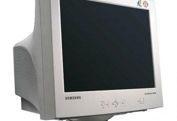 Monitora CRT: opis, główne elementy urządzenia