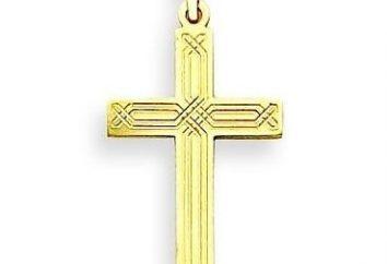 Männlich goldenes Kreuz: das Objekt der Anbetung oder Dekoration?