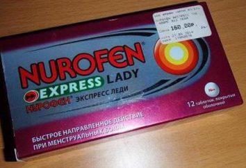 """""""Nurofen Express Lady"""": instruções e referências"""