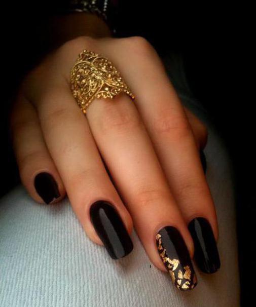 Manicure Czerni I Złota Paznokcie W Modnych Odcieniach Pomysły I