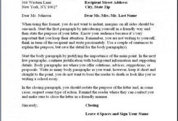 Geschäftsbriefe: Beispiele des Schreibens. Ein Beispiel für einen Geschäftsbrief in Englisch