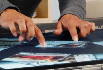 Écran tactile avec vos mains. instruction