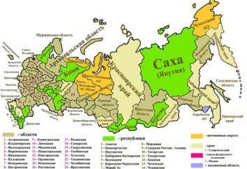 Combien de régions en Russie? Combien de régions de la Russie?