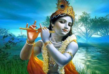 Lord Krishna. Welche Farbe genommen Gott Krishna zu vertreten?