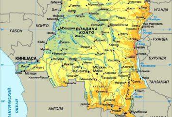 Kapitał w Zaire. Miasto Kinszasa. Demokratyczna Republika Konga