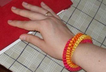 Come fare belle bracciali realizzati dei nastri con le proprie mani?