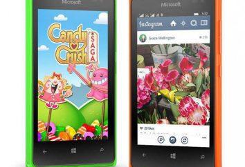 """Smartphone """"Microsoft Lyumiya 532"""": características e descrição, revisão, revisões"""