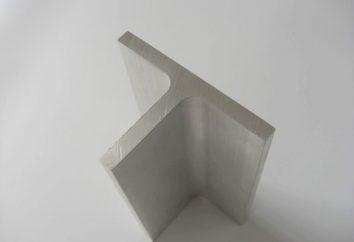 perfil en forma de T de aluminio: caracterización y aplicación
