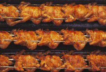 Poules grill à la maison avec un minimum de composants
