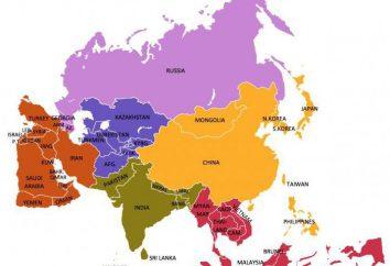popolazione asiatica. Caratteristiche della regione Asia International