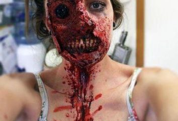 Le maquillage des zombies à la maison: idées et recommandations pour l'exécution étape par étape